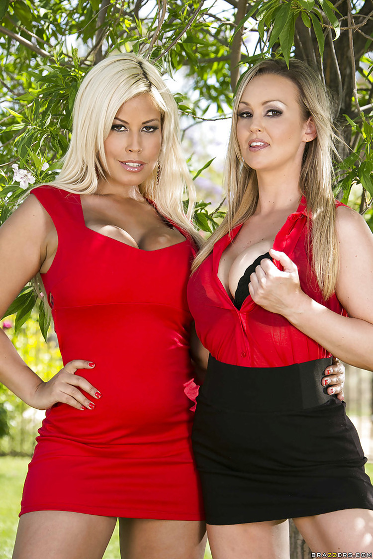 Abbey Brooks et Bridgette B Trio Pornstars like it big 1