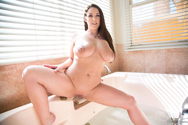 Angela White nude bathtub Girlsway 12