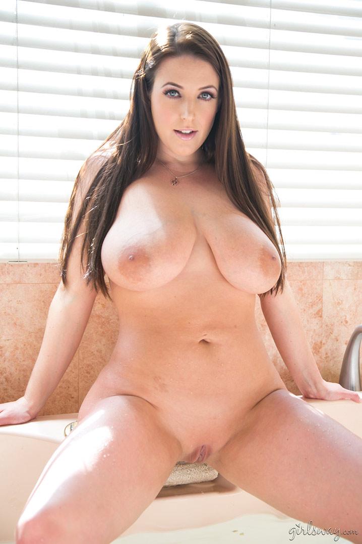 Angela White nude bathtub Girlsway 9